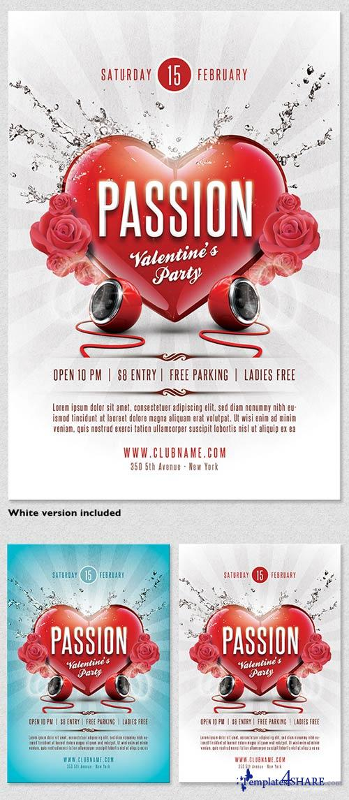 GraphicRiver Passion Valentines Flyer Template