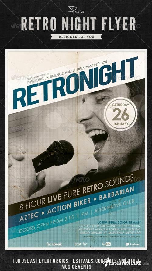 GraphicRiver Retro Night Flyer / Poster