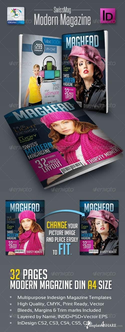GraphicRiver SwissMag Modern Magazine Templates 32pages