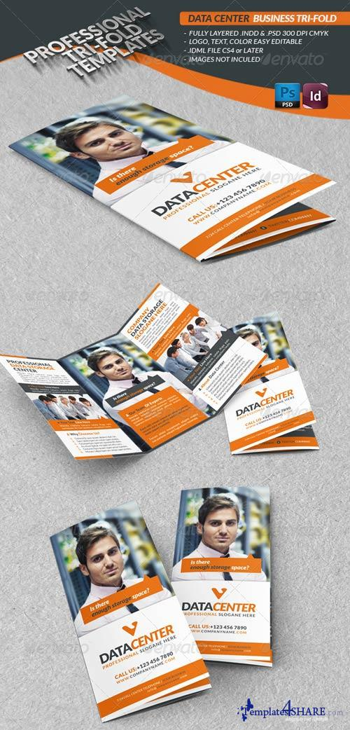 GraphicRiver Data Center Business Tri-Fold