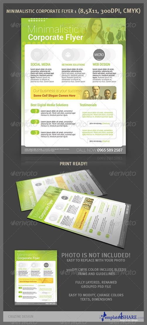 GraphicRiver Minimalistic Corporate Flyer 1