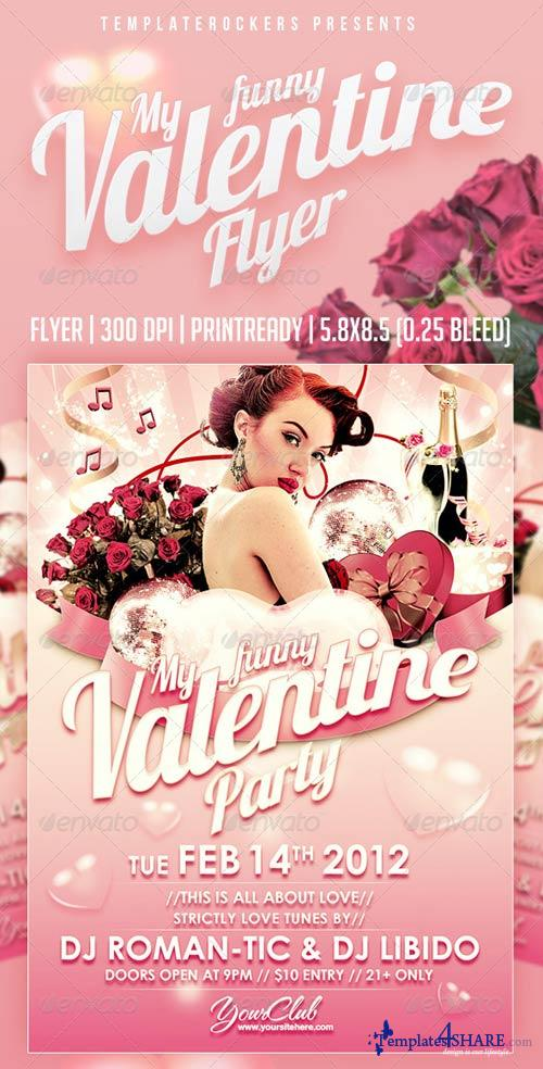 GraphicRiver My Funny Valentine Flyer | 3 Colors Versions