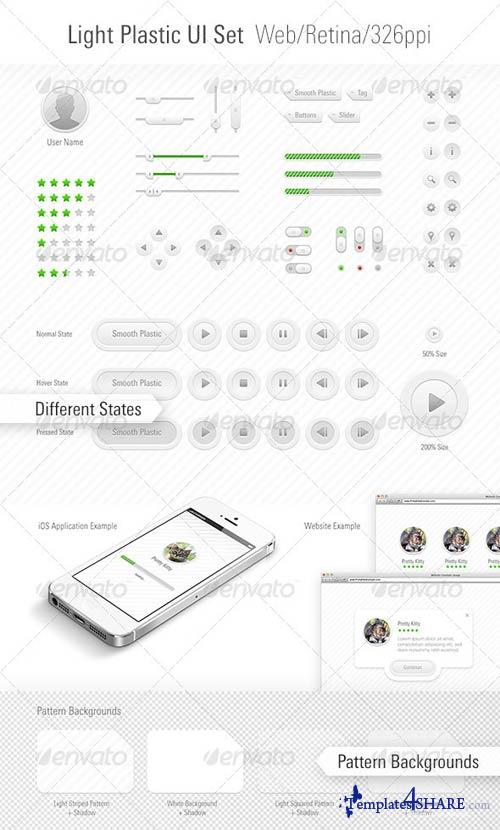 GraphicRiver Light Plastic UI Set Web/App