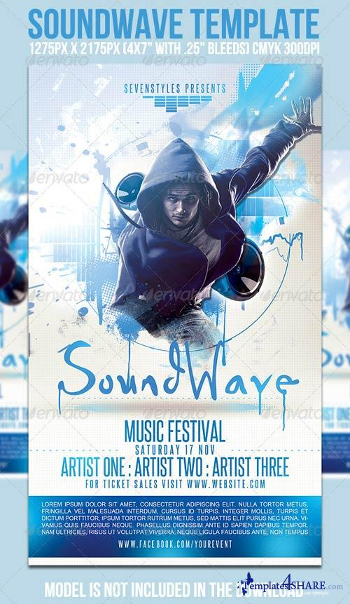GraphicRiver SoundWave Flyer Template