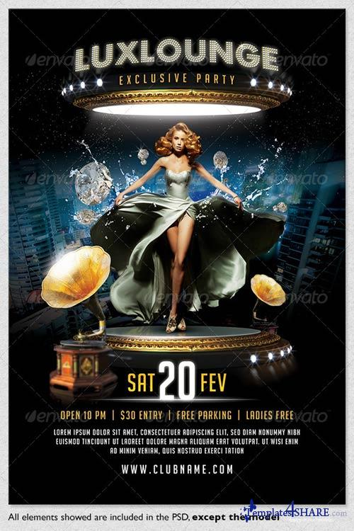 GraphicRiver Lux Lounge Party Flyer Template