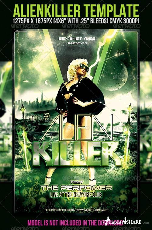 GraphicRiver AlienKiller Flyer Template