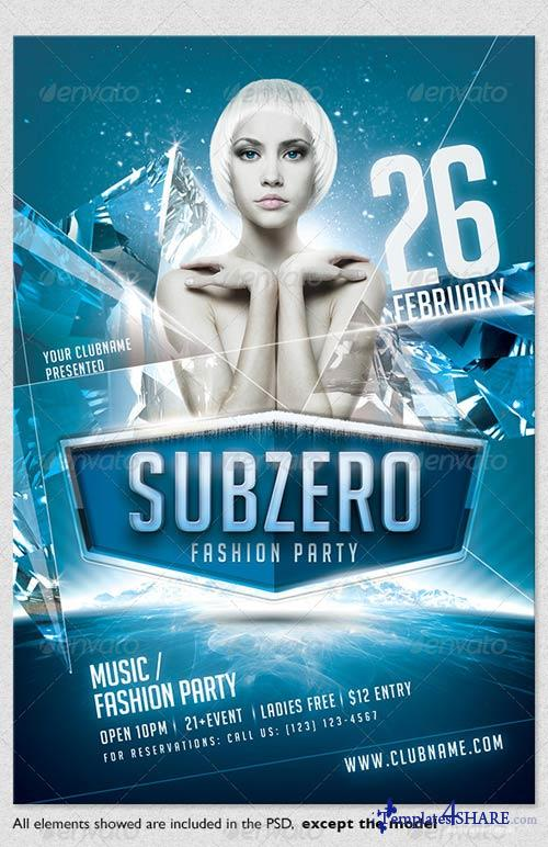 GraphicRiver Subzero - Winter Party Flyer Template