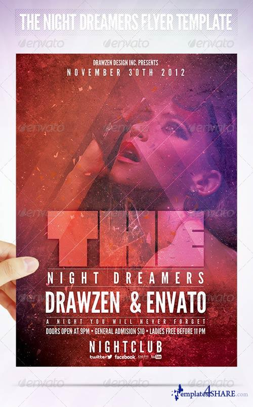 GraphicRiver The Night Dreamers Flyer Template