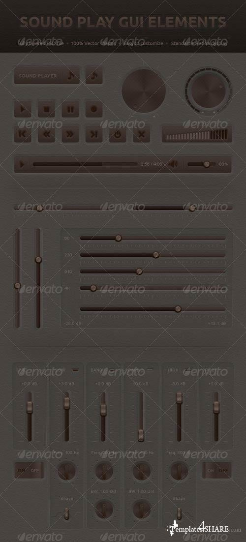 GraphicRiver Sound Play GUI Elements