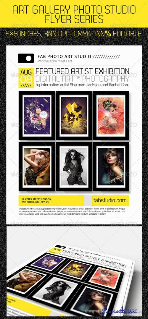 GraphicRiver Art Photo Studio Flyer PSD Template