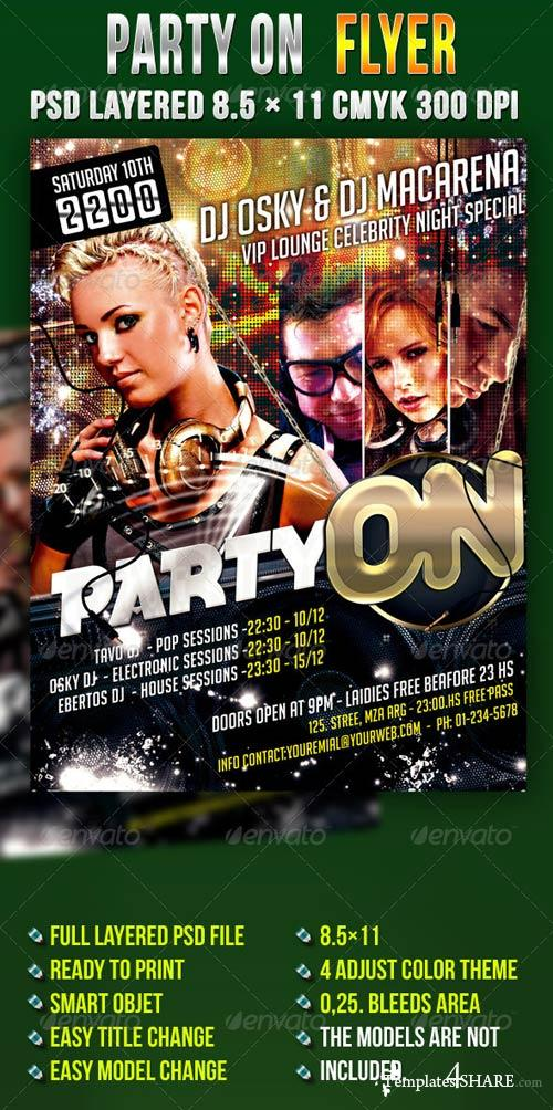 GraphicRiver Party On Flyer