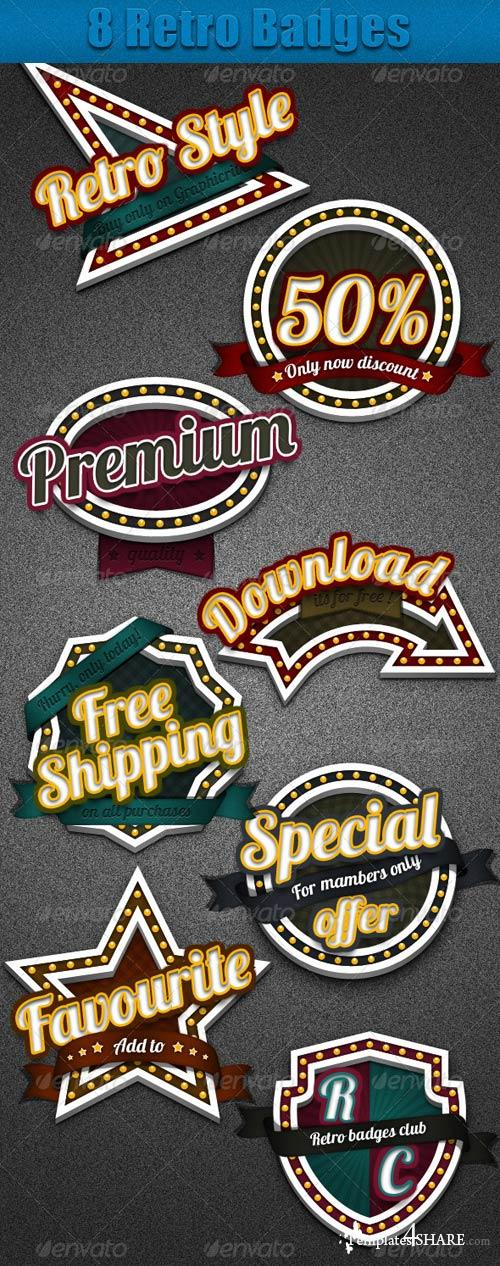 GraphicRiver 8 Retro Badges