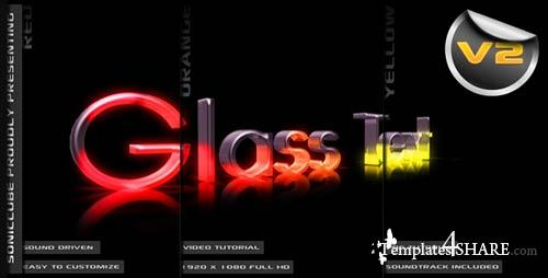 3D Crystal Glass Text - Audio Driven Illuminated - After Effects Project (Videohive)
