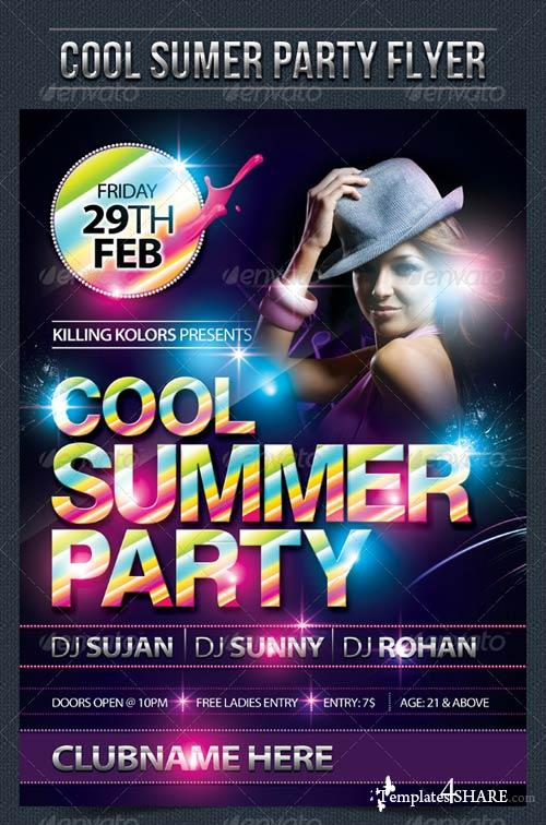 GraphicRiver Cool Summer Party Flyer