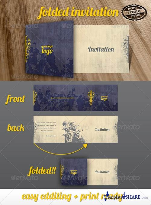 GraphicRiver Music Folded Invitation