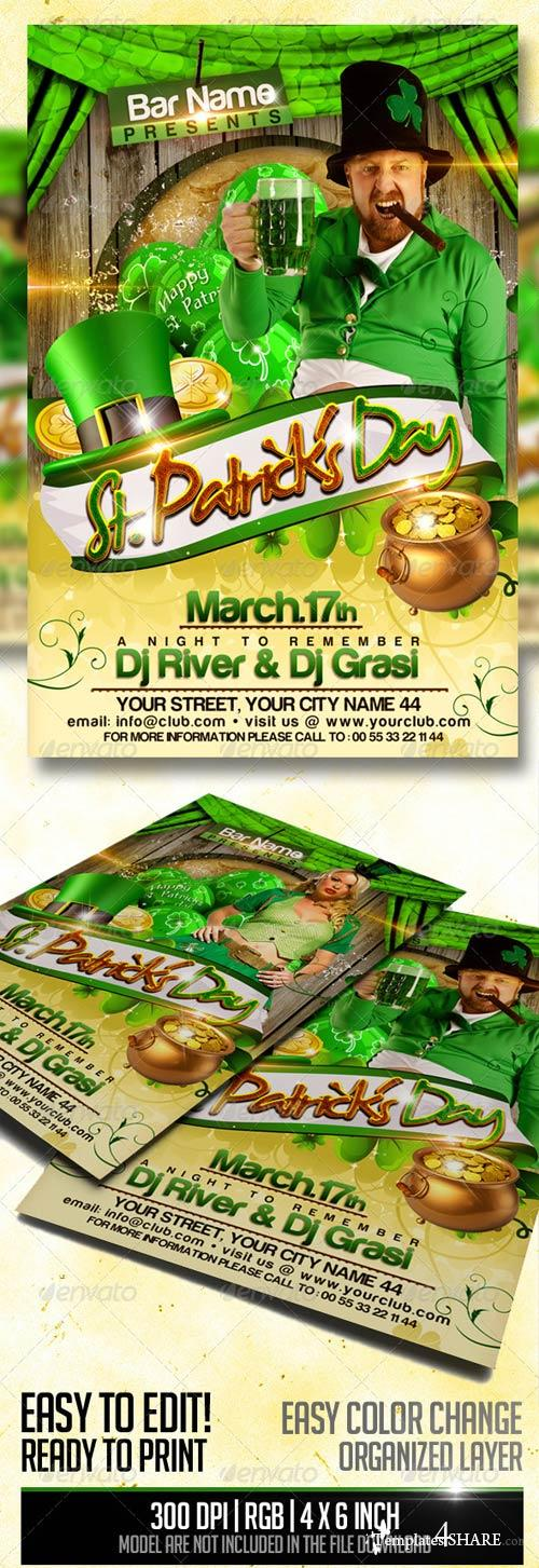GraphicRiver St. Patrick's Day Flyer Template