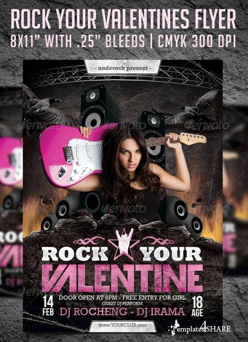 GraphicRiver Rock Your Valentine Flyer Template