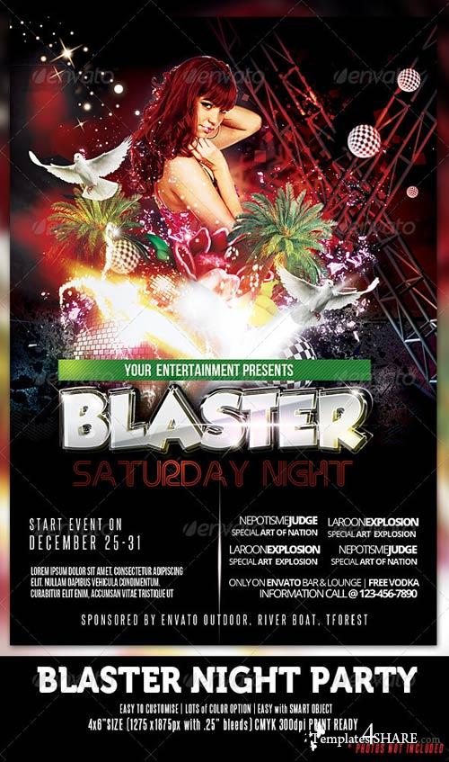 GraphicRiver Blaster Night Party Flyer