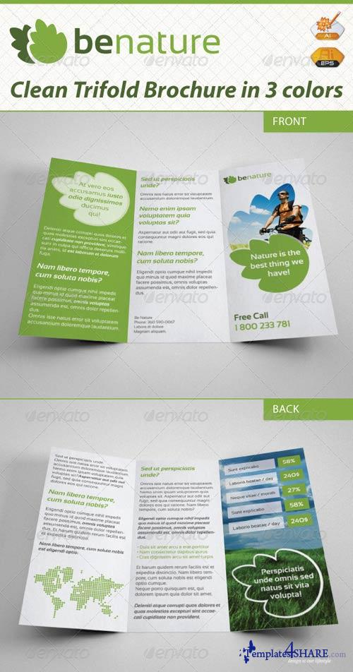 GraphicRiver Be Nature Business Trifold Brochure