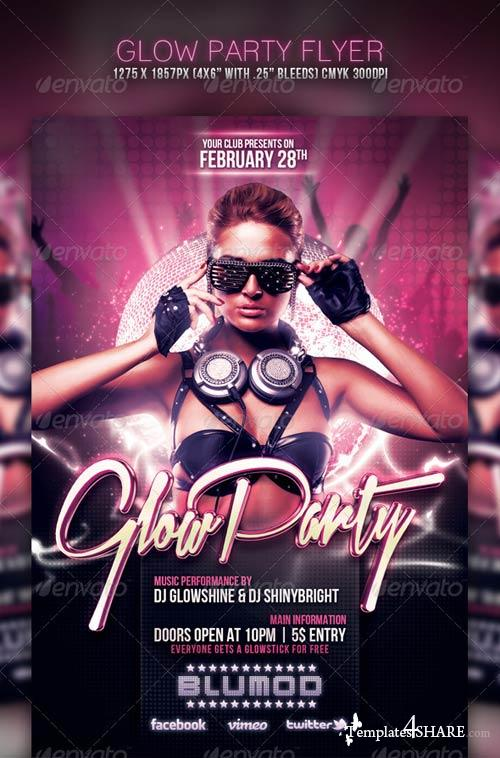 GraphicRiver Glow Party Flyer