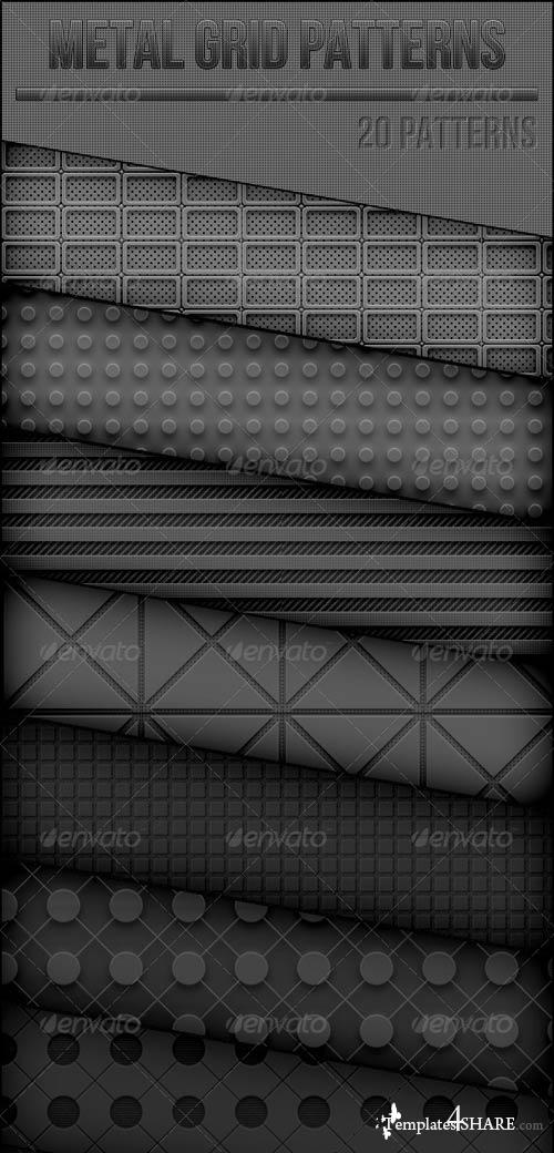 GraphicRiver Metal Grid Patterns