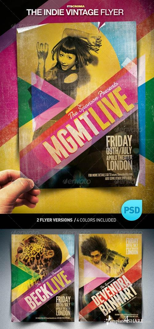 GraphicRiver Indie Vintage Flyer / By Croma