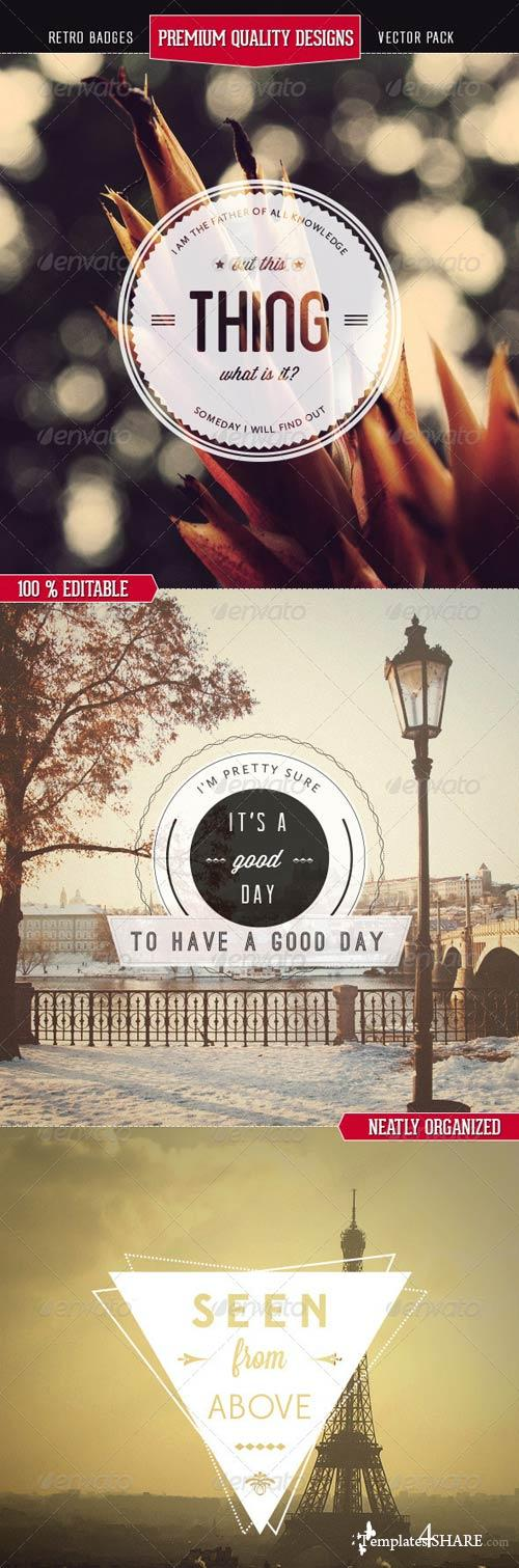 GraphicRiver Premium Quality - Retro Badges Vectors