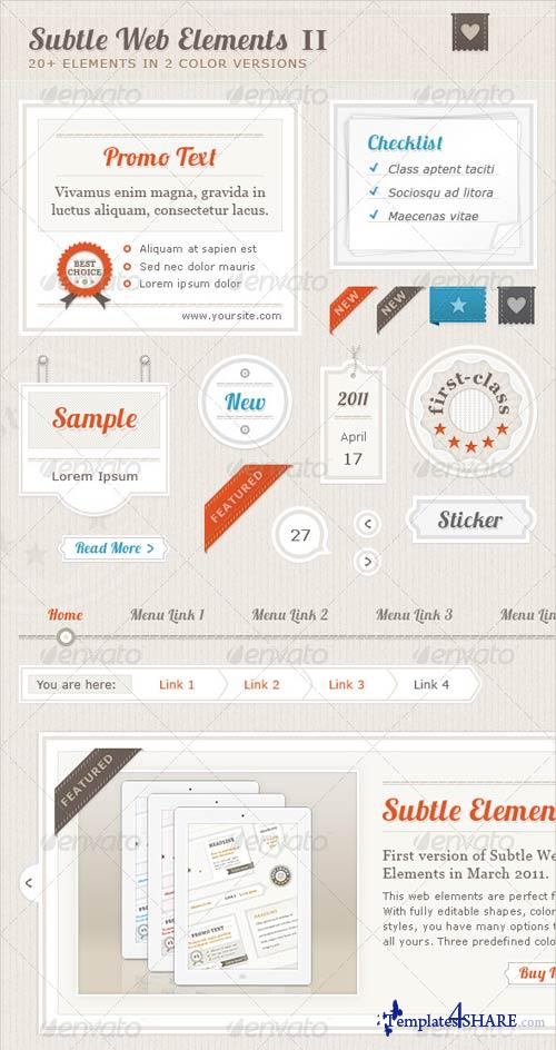 GraphicRiver Subtle Web Elements II