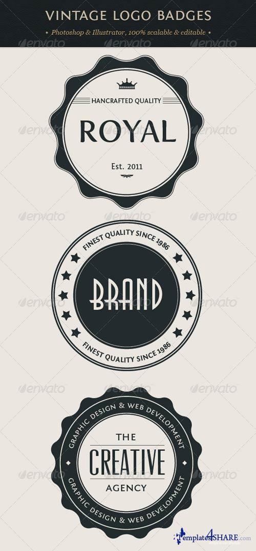 GraphicRiver Vintage Logo Badges Set