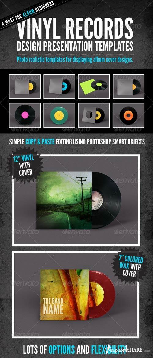GraphicRiver Vinyl Record Album Mock-Ups