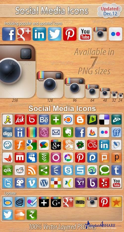 GraphicRiver 60 Social Media Icons