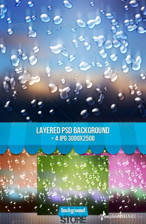 GraphicRiver Water Drops Background
