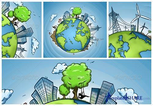 GraphicRiver Green Earth Concept