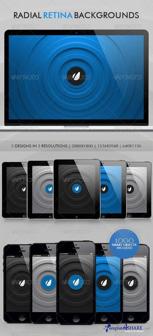GraphicRiver Radial Retina Backgrounds