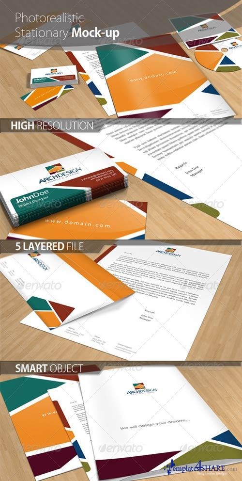 GraphicRiver Business Stationary Mock-up