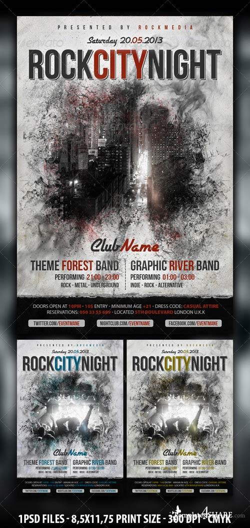 GraphicRiver Rock Concert / Party Flyer / Poster