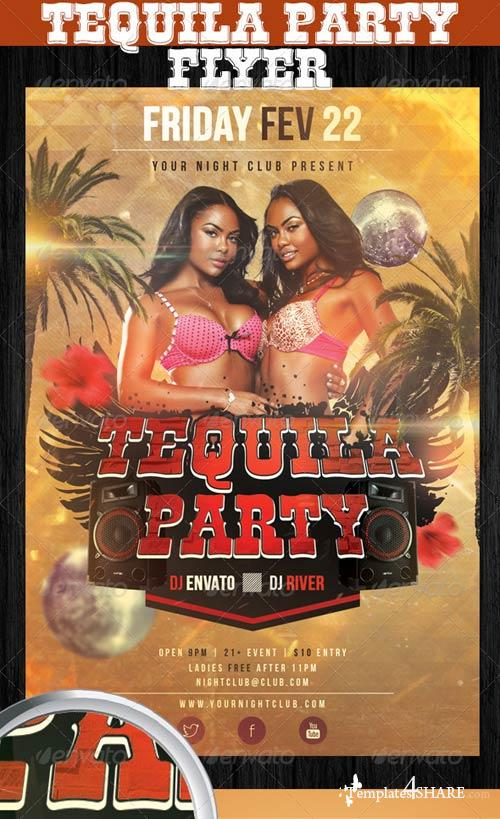 GraphicRiver Tequila Party Flyer