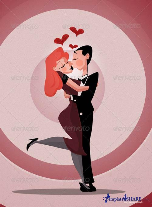 GraphicRiver Love Cartoon