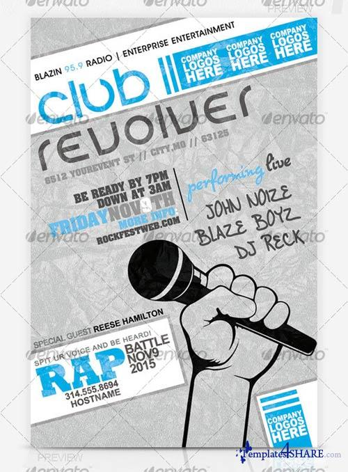 GraphicRiver Rap Battle Music Flyer
