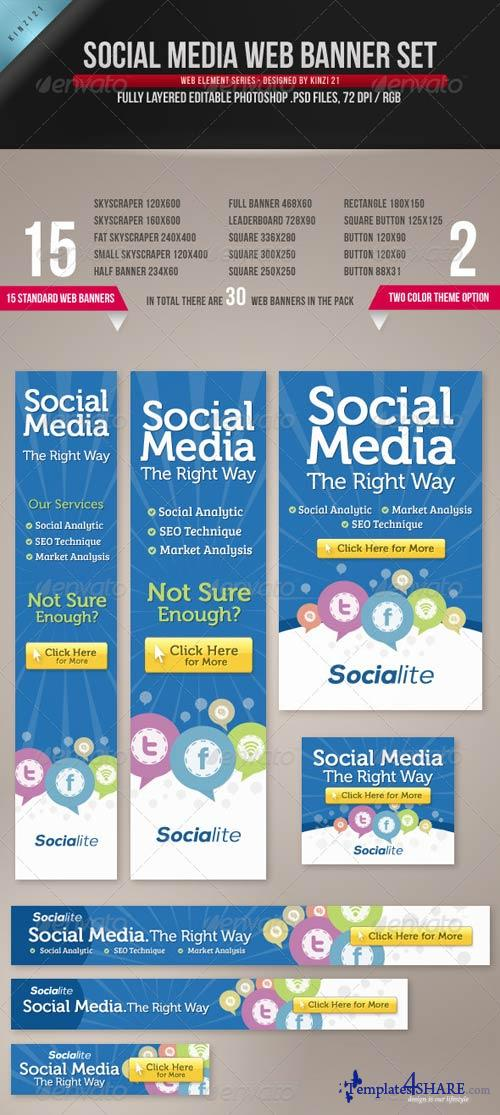 GraphicRiver Social Media Web Banner Set