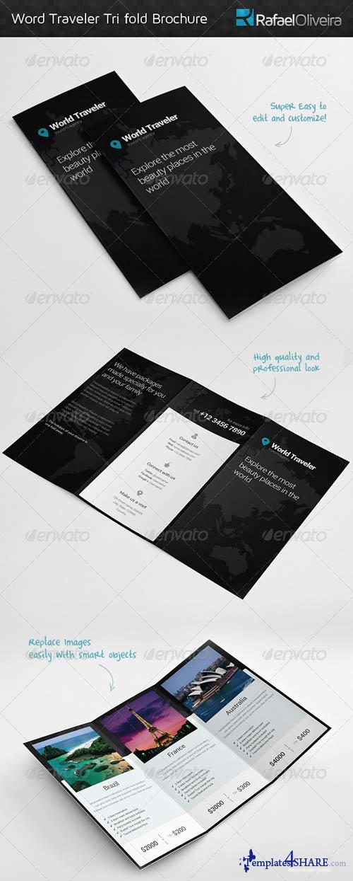 GraphicRiver World Traveler Tri Fold Brochure