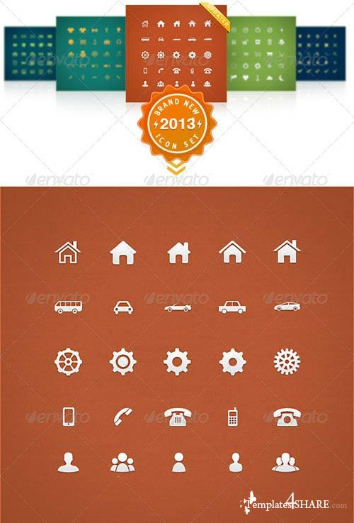 GraphicRiver 125 Simple Universal Icons
