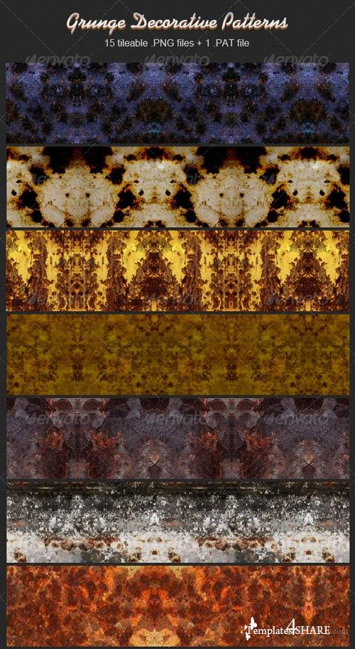 GraphicRiver Grunge Decorative Patterns
