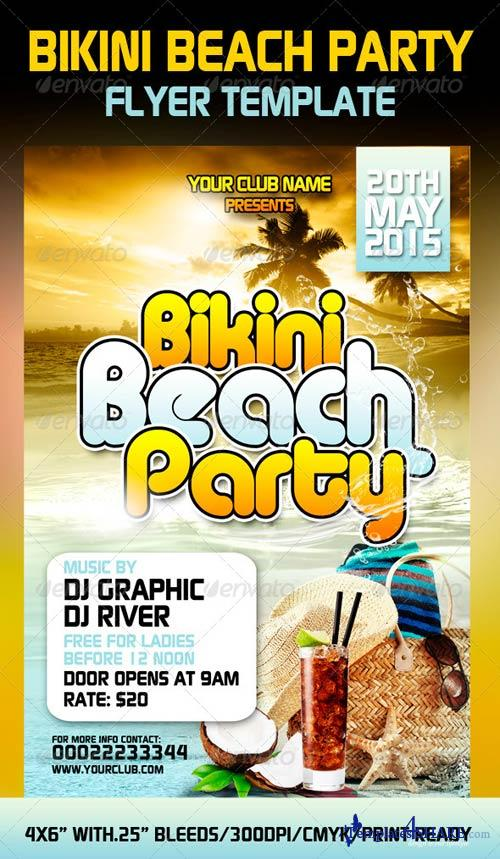 GraphicRiver Bikini Beach Party Flyer Template