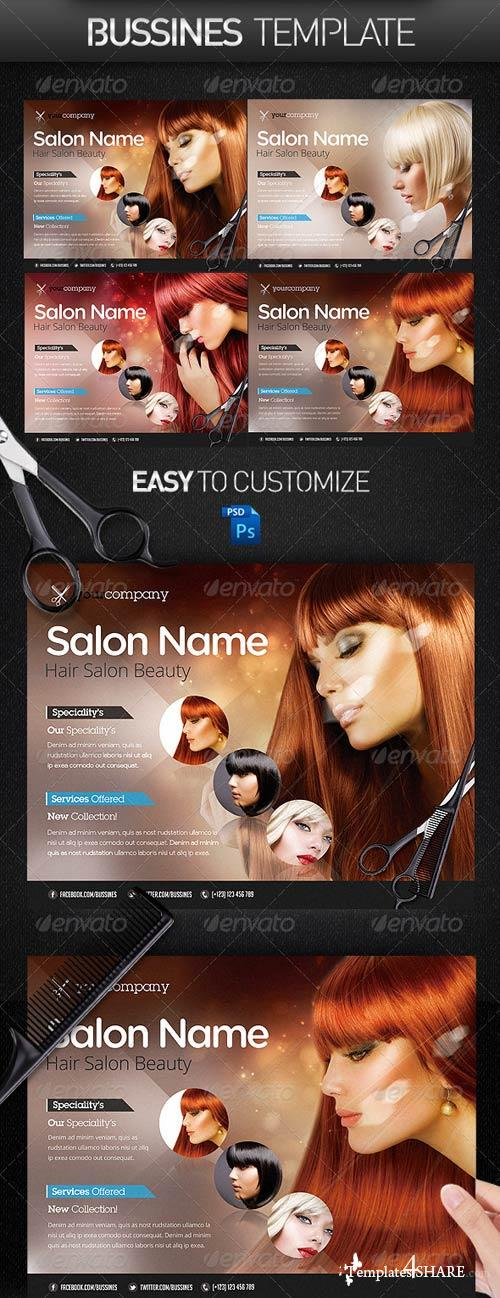 GraphicRiver Hair Salon PRO Bussines Promotional Flyer