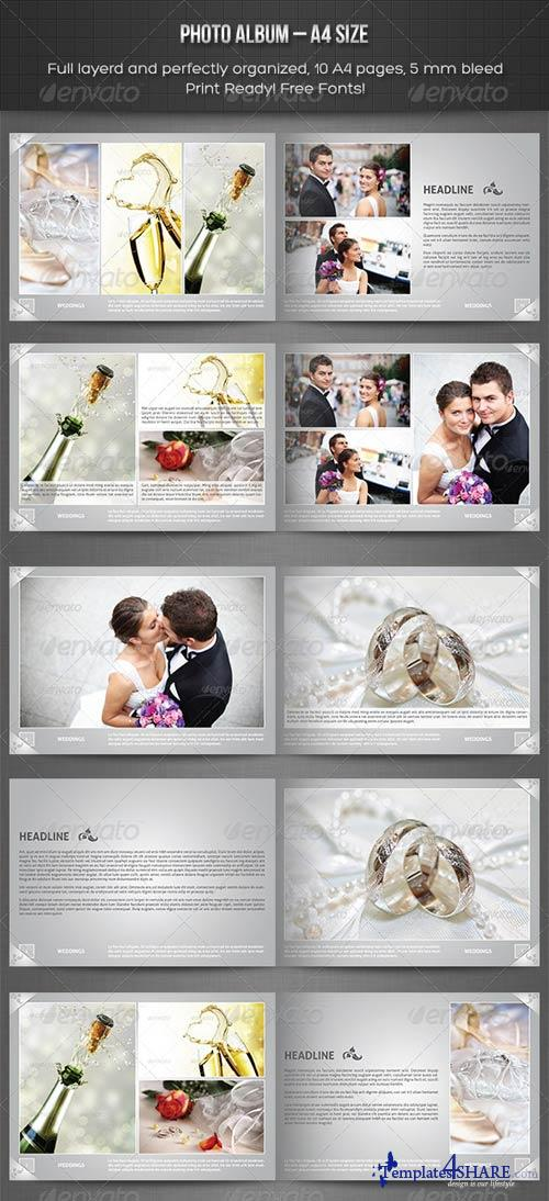 GraphicRiver Photo Album - A4 Landscape Template