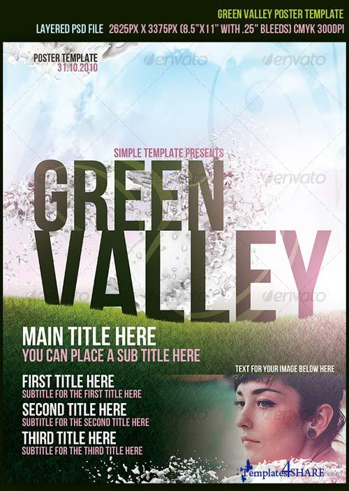 GraphicRiver Green Valley Poster Template