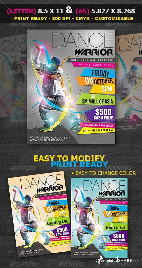 GraphicRiver Dance Contest Flyer Template