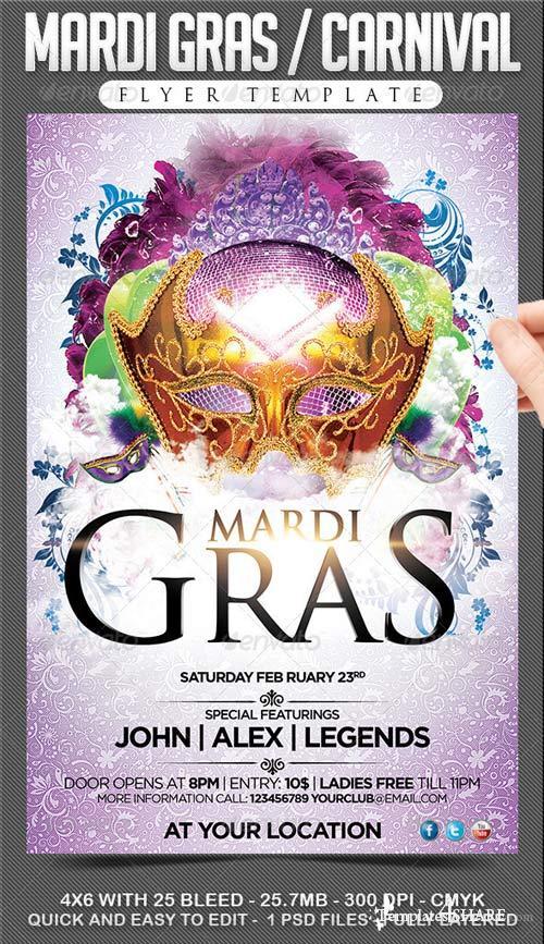 GraphicRiver Mardi Gras / Carnival Flyer