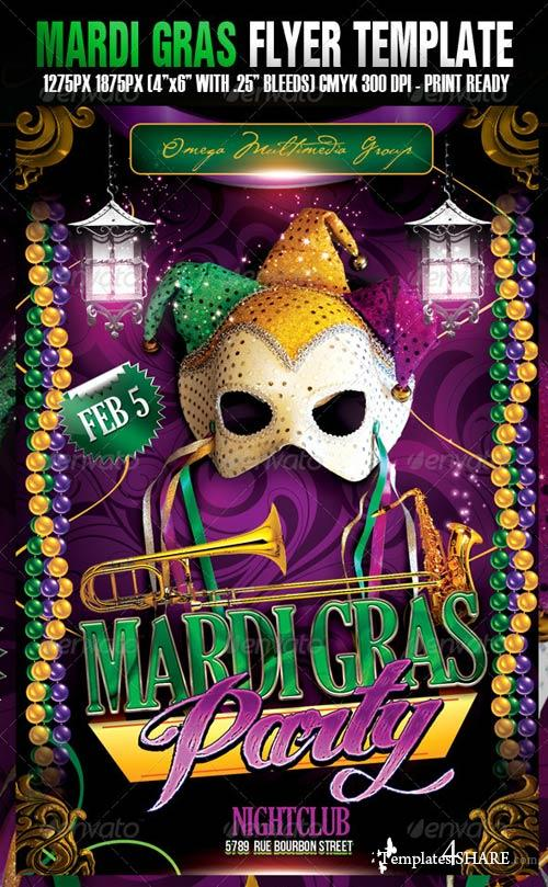 GraphicRiver The Mardi Gras Template